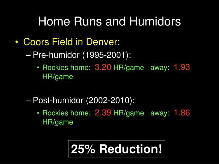 Home Runs and Humidors