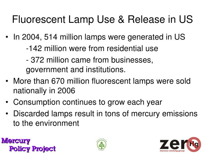 Fluorescent Lamp Use & Release in US
