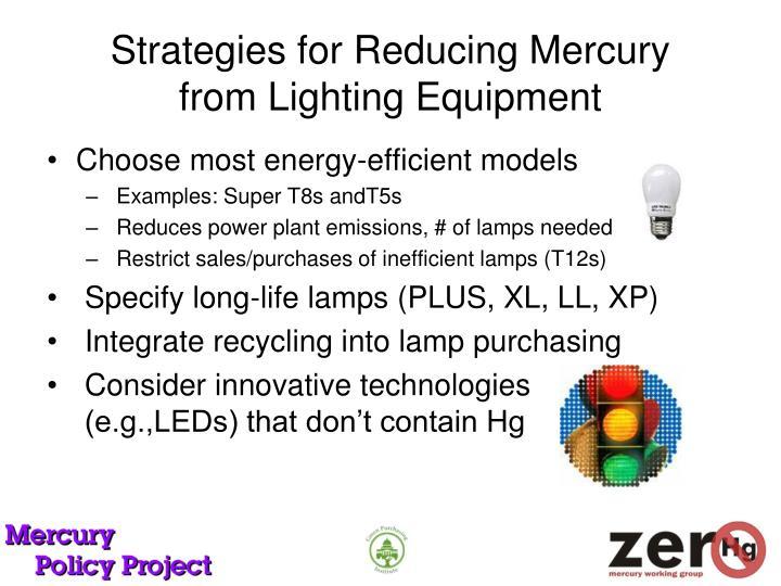 Strategies for Reducing Mercury