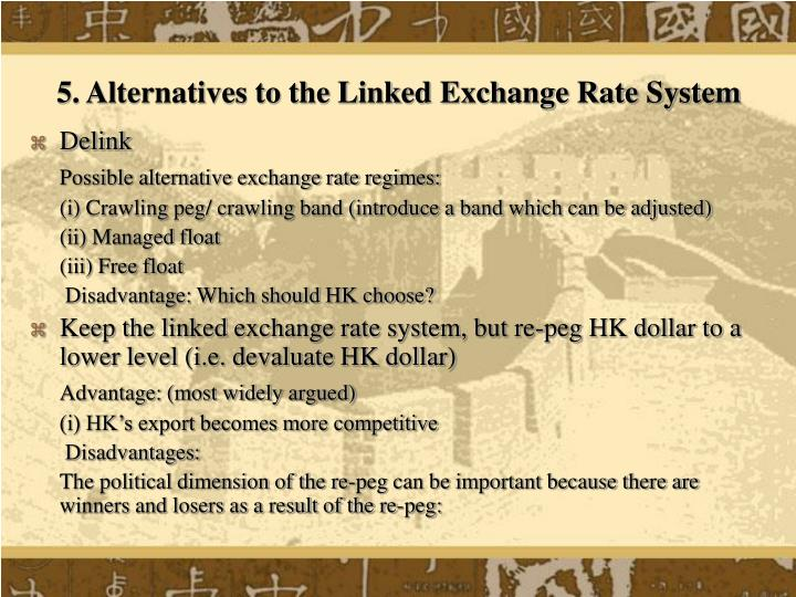 5. Alternatives to the Linked Exchange Rate System