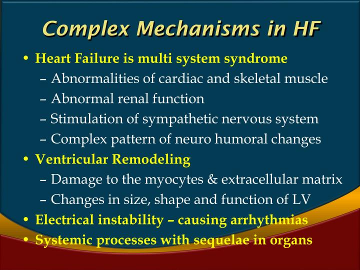Complex Mechanisms in HF