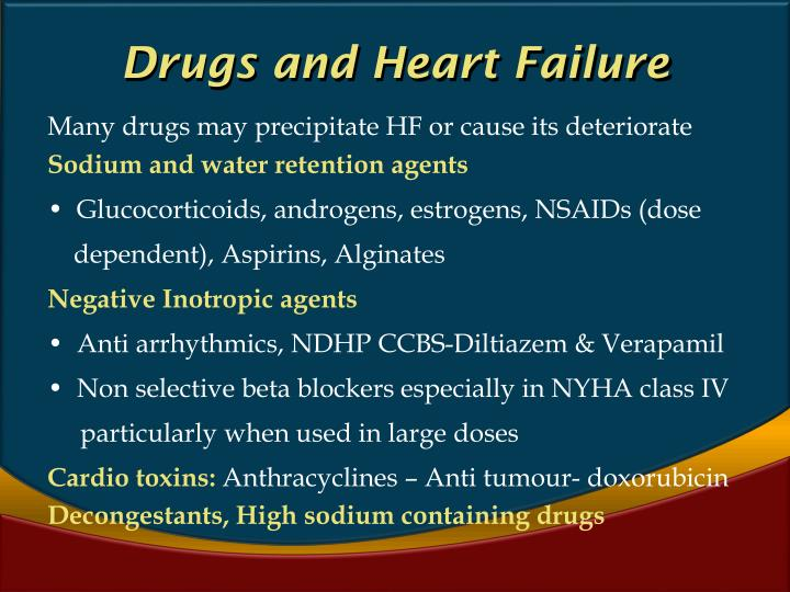 Drugs and Heart Failure