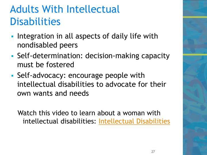 Adults With Intellectual Disabilities