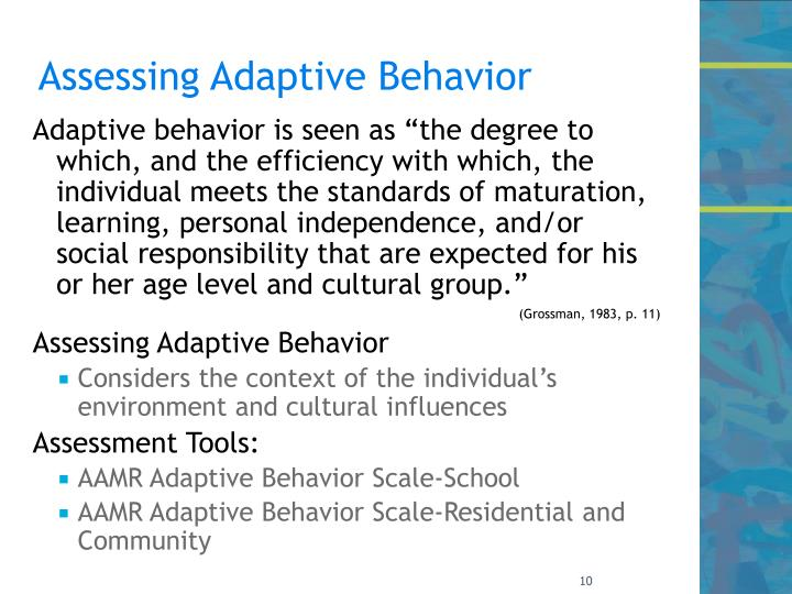 Assessing Adaptive Behavior