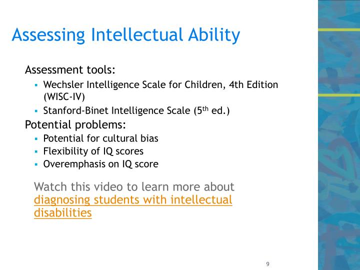 Assessing Intellectual Ability