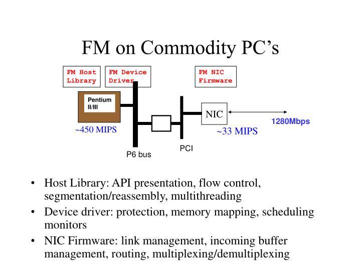 FM on Commodity PC's