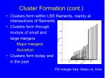cluster formation cont