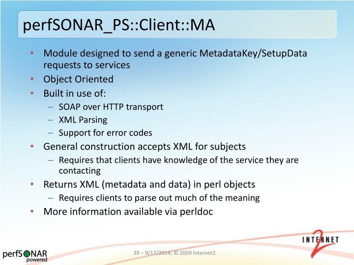perfSONAR_PS::Client::MA