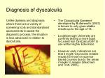 diagnosis of dyscalculia