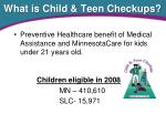 what is child teen checkups
