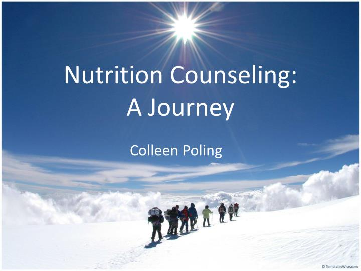 nutrition counseling a journey
