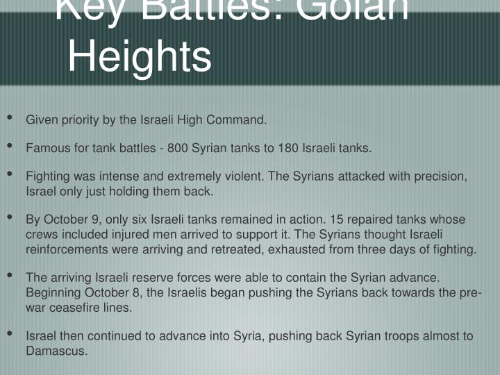 Key Battles: Golan Heights