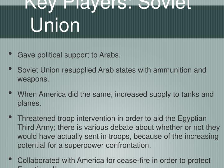 Key Players: Soviet Union