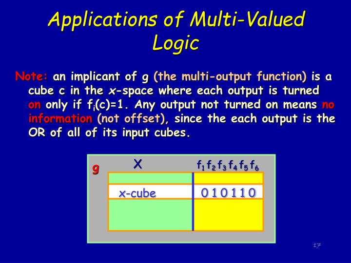 Applications of Multi-Valued Logic
