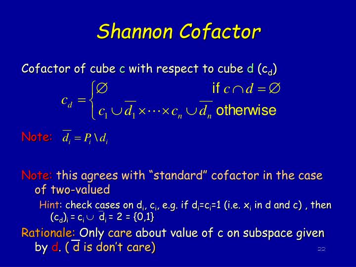 Shannon Cofactor