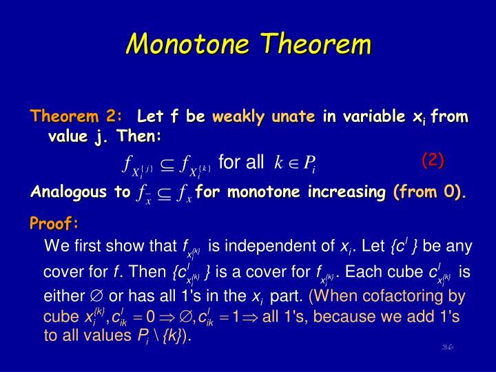 Monotone Theorem