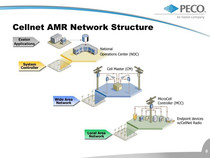 Cellnet AMR Network Structure