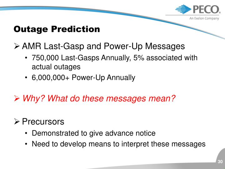 Outage Prediction