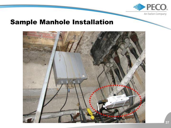 Sample Manhole Installation