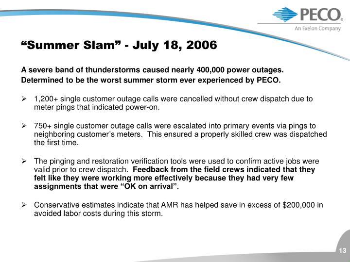 """""""Summer Slam"""" - July 18, 2006"""