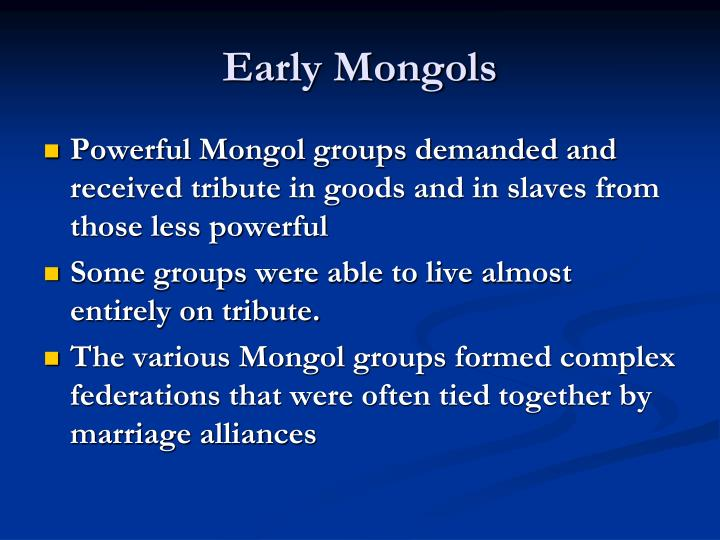 Early mongols