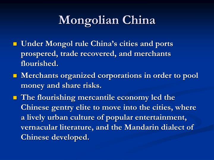 Mongolian China