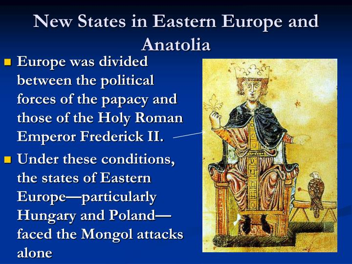 New States in Eastern Europe and Anatolia