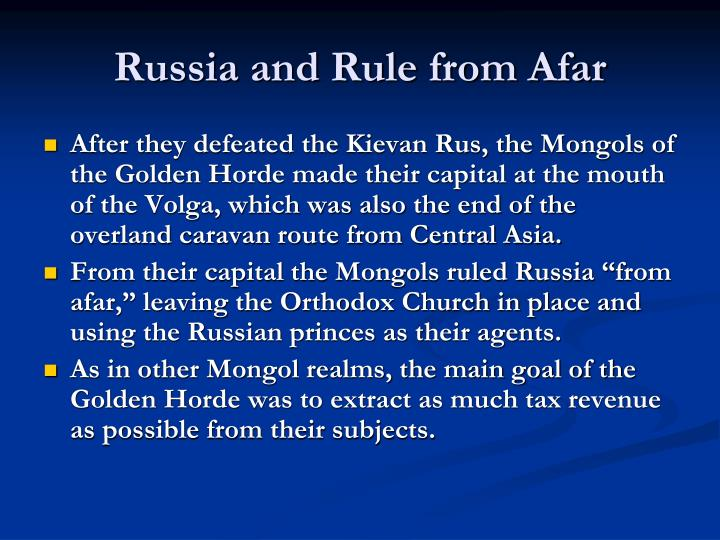 Russia and Rule from Afar