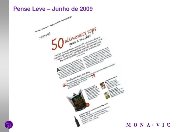 Pense Leve – Junho de 2009