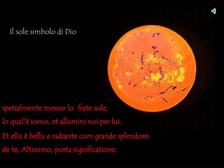 Il sole simbolo di Dio