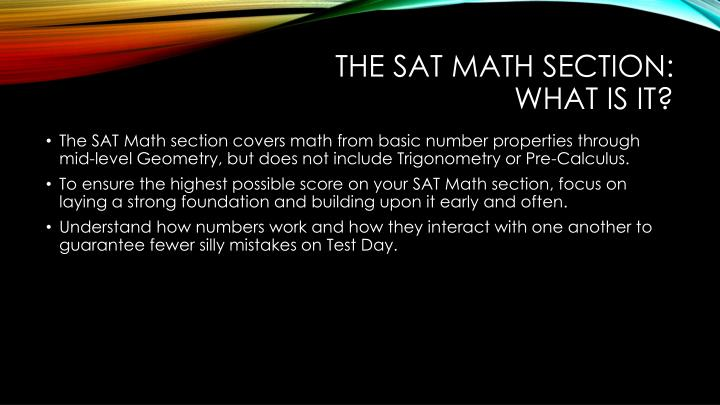 The sat math section what is it