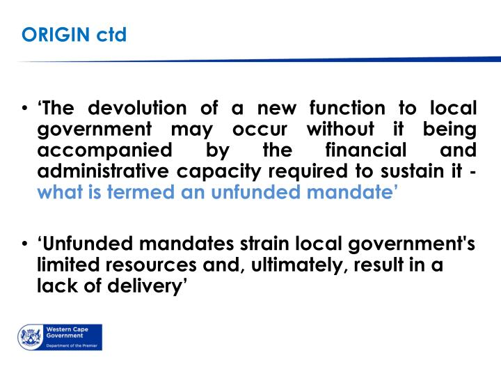 the meaning of a devolved government In this lesson, you'll learn what devolution is, why countries have devolved systems, and look at two examples finally, the lesson will briefly.