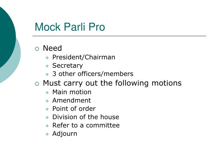 Mock Parli Pro