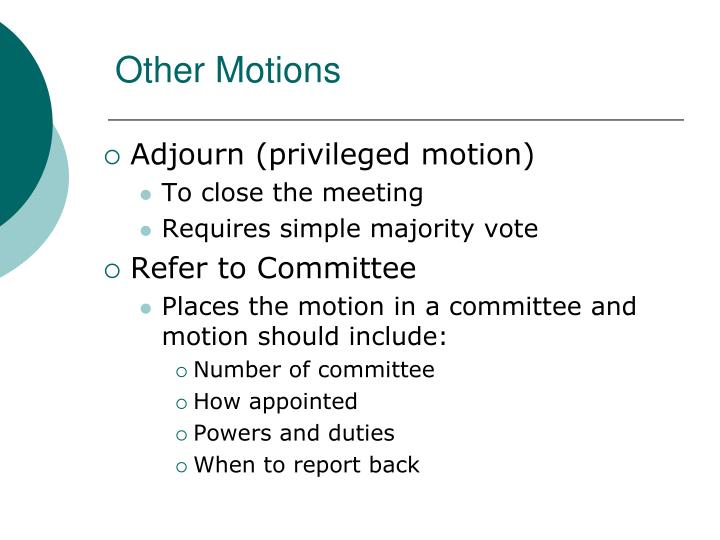 Other Motions