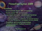 filosofian kurssi 20094