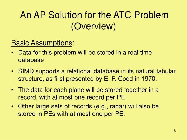 An AP Solution for the ATC Problem