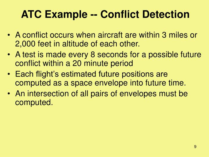ATC Example -- Conflict Detection