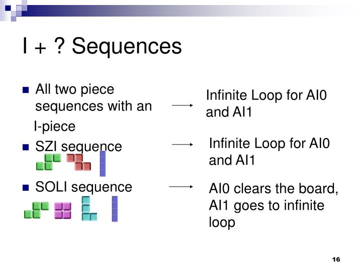 All two piece sequences with an