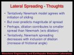 lateral spreading thoughts