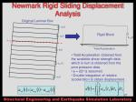 newmark rigid sliding displacement analysis