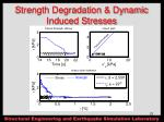 strength degradation dynamic induced stresses