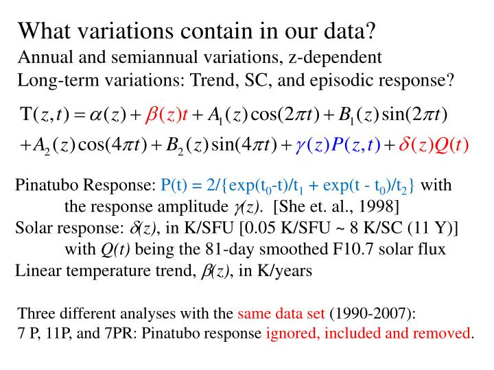 What variations contain in our data?