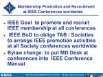 membership promotion and recruitment at ieee conferences worldwide