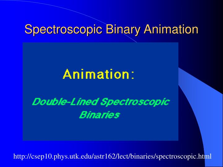 Spectroscopic Binary Animation