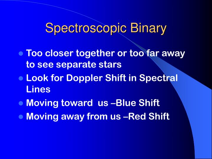 Spectroscopic Binary