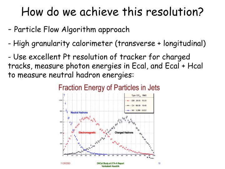How do we achieve this resolution?