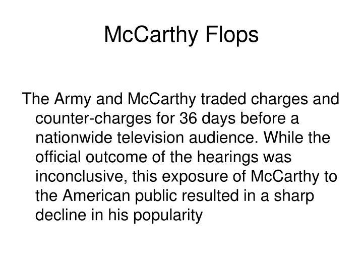 McCarthy Flops