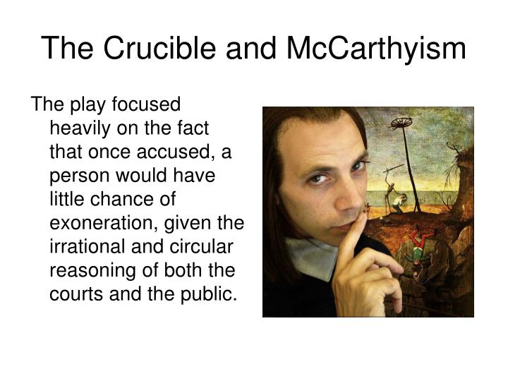 The play focused heavily on the fact that once accused, a person would have little chance of exoneration, given the irrational and circular reasoning of both the courts and the public.