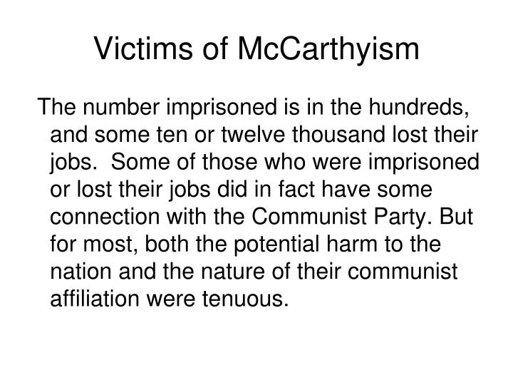 Victims of McCarthyism