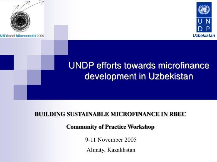 sustainable microfinance development model a case